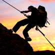 Rock climber - Foto Stock