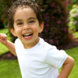 Happy child outdoors — Stock Photo