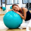 Girl doing pilates — Stock Photo