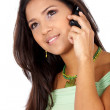 Stock Photo: Casual woman on the phone