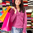 Woman - shopping bags - Stock Photo