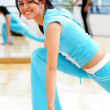 Gym woman exercising - Foto Stock