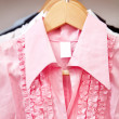 Pink blouse — Stock Photo