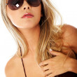 Woman portrait - sunglasses - Foto Stock
