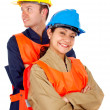Stock Photo: Couple of manual workers