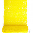 Rolling pin with yellow paint — Stock Photo