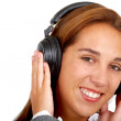 Girl listening to music - Foto Stock