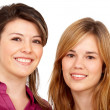 Teenage girls smiling - Foto Stock