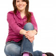 Casual woman smiling - Foto Stock