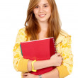 Blond teenage student smiling — Stock Photo #7767180