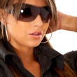 Stock Photo: Fashion woman wearing sunglasses
