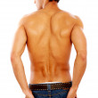 Male body from the back — Stock Photo