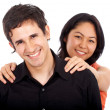 Diverse happy couple — Stock Photo