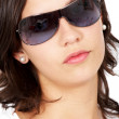 Woman portrait - sunglasses — Stock Photo