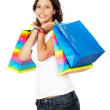 Royalty-Free Stock Photo: Girl out shopping