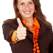 Business woman thumbs up — Stock Photo #7767458