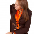 Stock Photo: Business woman - banner add