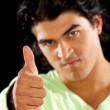 Casual mdoing thumbs up — Stock Photo #7767510