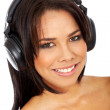 Woman listening to music — Stock Photo #7767554