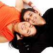 Happy mixed race couple - Stock Photo