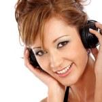 Woman listening to music — Stock Photo #7767627