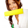 Female decorator - Stock Photo