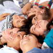 Stock Photo: Group of happy young