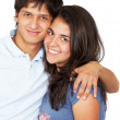 Casual couple smiling — Stock Photo