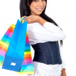 Casual woman with shopping bags — Stock Photo #7767737