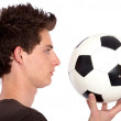 Man with a football — Stock Photo