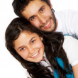 Casual couple smiling — Stock Photo #7767794