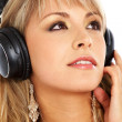 Royalty-Free Stock Photo: Woman listening to music