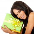 Royalty-Free Stock Photo: Gift box girl