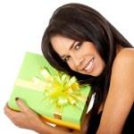 Gift box girl — Stock Photo