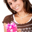 Gift box girl — Stock Photo