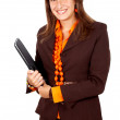 Stock Photo: Business woman smiling