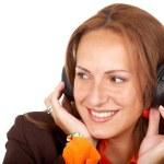 Girl listening to music — Stock Photo #7767899