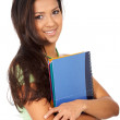 College student smiling — Stock Photo #7767914