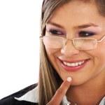Business woman portrait smiling — Stock Photo