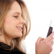 Mobile phone text — Stock Photo #7767948