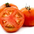 Red tomatoes isolated - Stock Photo