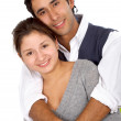 Casual couple smiling — Stock Photo #7767976