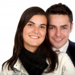 Stock Photo: Couple portrait smiling