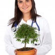 Female environment doctor — Stock Photo