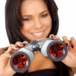 Stock Photo: Business woman with binoculars