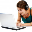 Stock Photo: Online music downloads