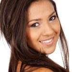 Casual woman portrait smiling — Stock Photo