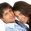 Casual couple smiling — Stock Photo #7768107