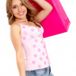 Casual woman with shopping bags — Stock Photo