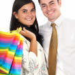 Happy couple shopping — Stock Photo #7768247